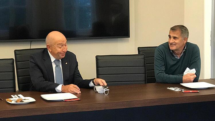 TFF Başkanı Nihat Özdemir, Şenol Güneşle bir araya geldi