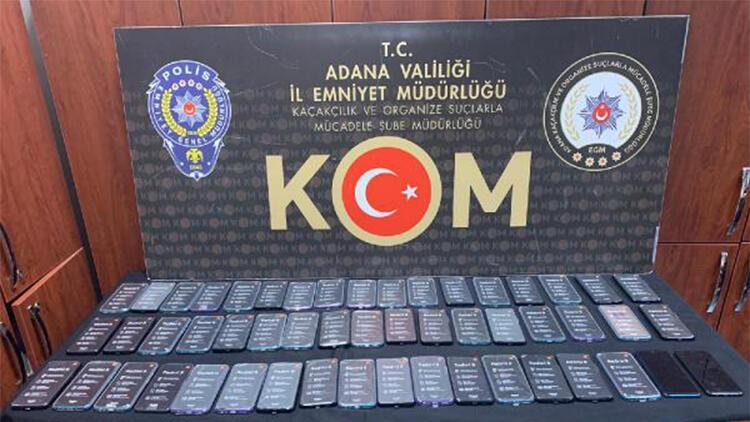 Adana'da gümrük kaçağı 116 cep telefonu ele geçirildi