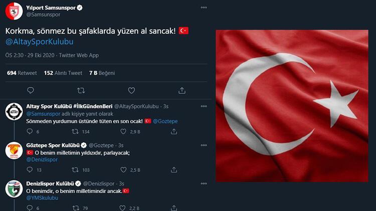 Samsunspor başlattı, diğer kulüpler devam ettirdi İstiklal Marşı...