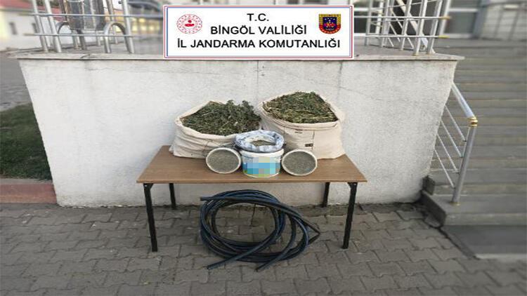Bingölde 21 kilo esrar ele geçirildi