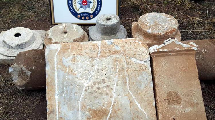 Manisa'da Roma ve Bizans dönemlerine ait eserler ele geçirildi