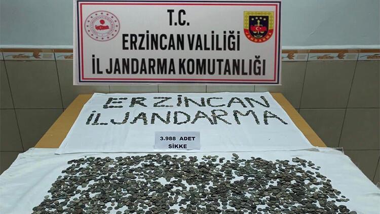 Erzincan'da 3 bin 988 adet sikke ele geçirildi