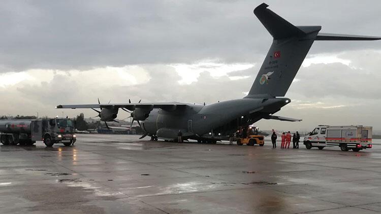 MSB: TSK'ya ait uçağımız, AFAD ve jandarma ekiplerini bölgeye ulaştırmak için hareket etti