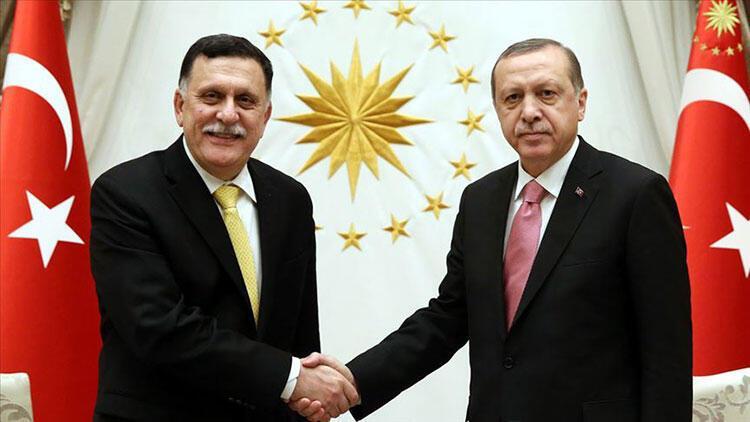 Libya Başbakanı Serracdan Cumhurbaşkanı Erdoğana geçmiş olsun telefonu