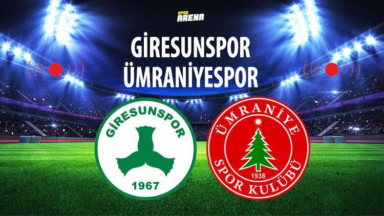 Giresunspor Ümraniyespor maçı saat kaçta hangi kanalda