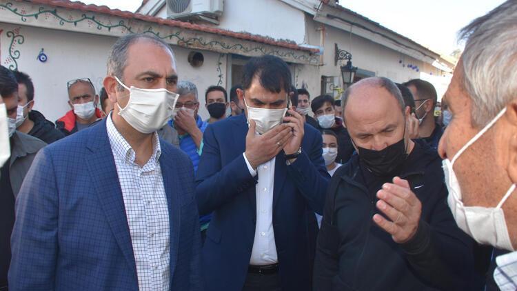 Çevre ve Şehircilik Bakanı Kurum ve  Adalet Bakanı Gül, Sığacık'ı ziyaret etti