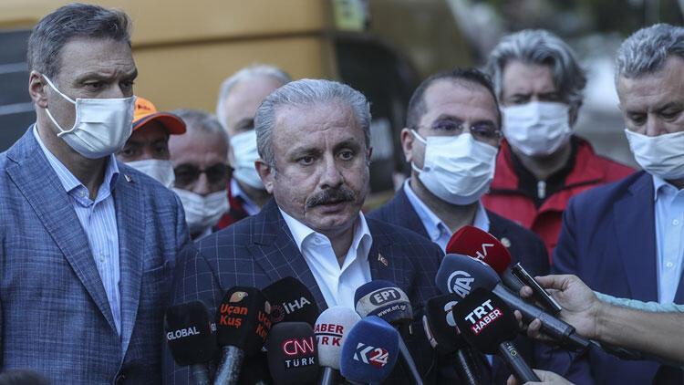 TBMM Başkanı Mustafa Şentop deprem bölgesinde...