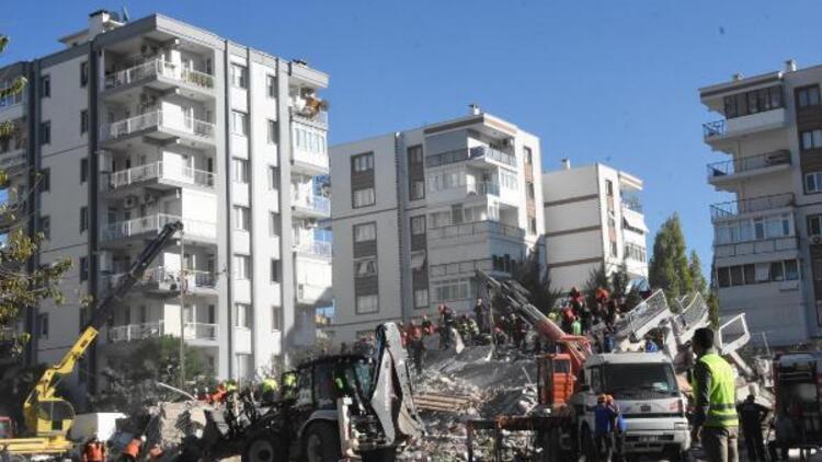 İzmir'de arama kurtarma çalışmaları 3'üncü günde 9 binanın enkazında sürüyor