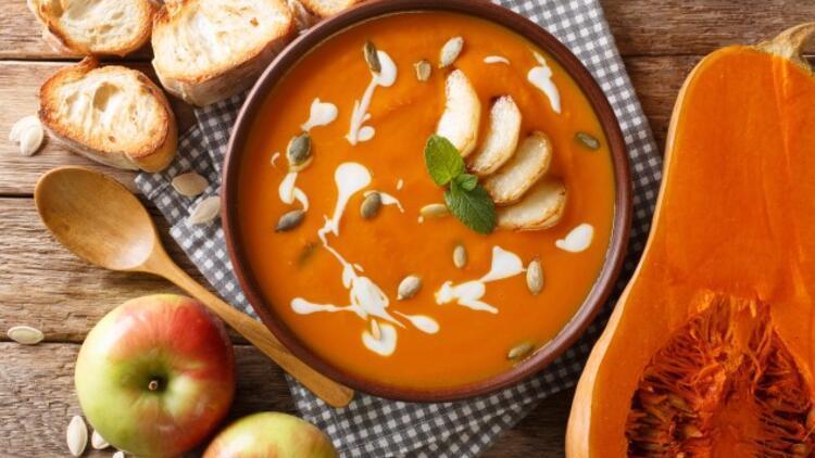 Kremalı Tatlı Kabak Çorbası