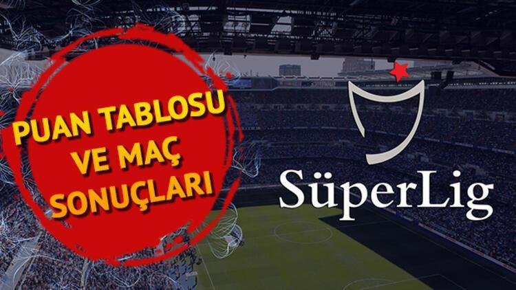 Süper Lig puan durumu! 2 Kasım Süper Lig 7. hafta puan tablosu ve maç sonuçları