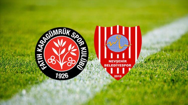 Fatih Karagümrük Nevşehir Belediyespor maçı saat kaçta ve hangi kanalda?