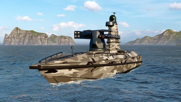 Türkiye'nin ilk silahlı insansız deniz aracı denize iniyor