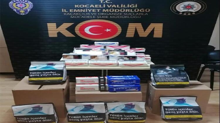 İzmit'te 540 kilo kaçak tütün ele geçirildi