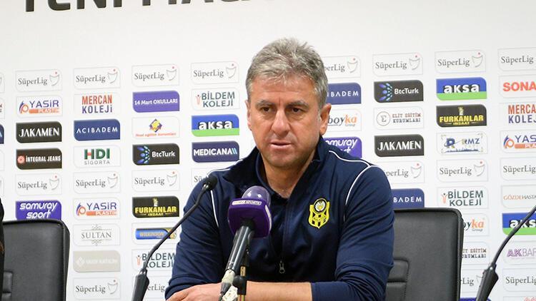 Yeni Malatyaspor Teknik Direktörü Hamza Hamzaoğlu: 'Hak ettiğimiz bir galibiyet aldık'