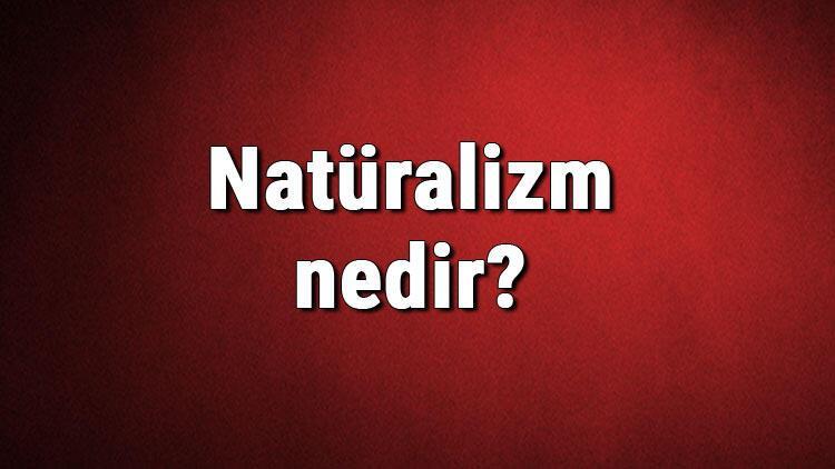 Natüralizm nedir? Doğalcılık ne demek? Felsefede Natüralizm akımı özellikleri, kurucusu ve temsilcileri