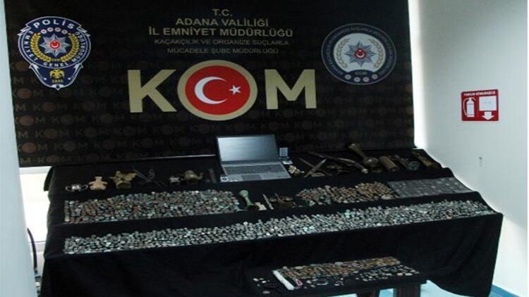 Adana'da tarihi eser kaçakçılarına operasyona 2 gözaltı