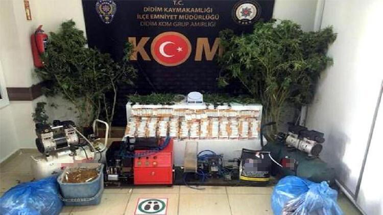 Evinde uyuşturucu ve kaçak tütün ile yakalanan kişi tutuklandı