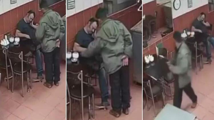 İzmir'de uyuyakalan pastane sahibinin telefonunun çalındığı o anlar kamerada