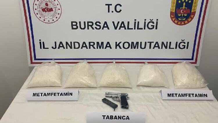 Bursa'da 1.5 milyon TL değerinde 5 kilo metamfetamin ele geçirildi