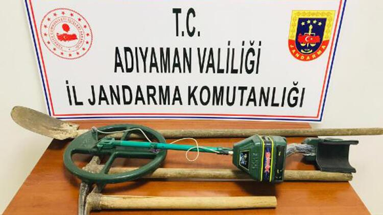 Adıyaman'da kaçak kazıya 3 gözaltı