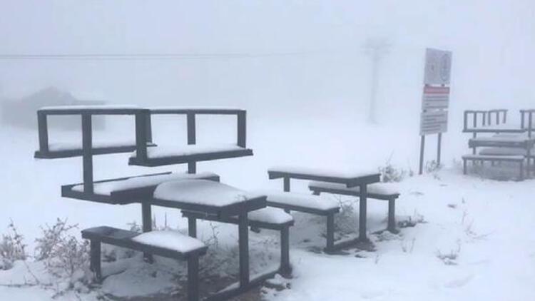Salda Kayak Merkezi, bembeyaz oldu