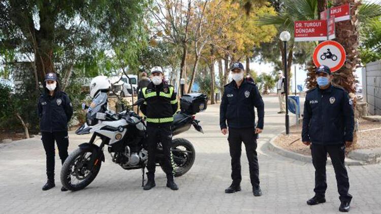 Datça'da kurallara uyamayan 11 motosiklet sürücüsüne ceza yağdı