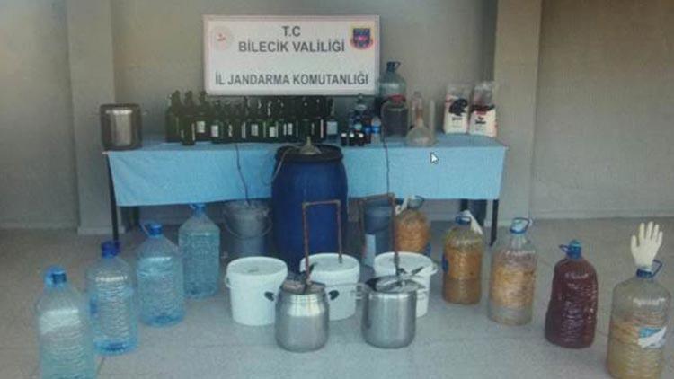 Bilecik'te 211 litre kaçak içki ele geçirildi
