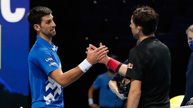 Djokovic'i 2-1 mağlup eden Avusturyalı Thiem finale çıktı