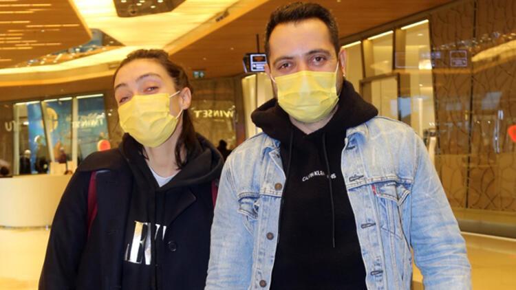 Merve Dizdar ve eşi Gürhan Altundaşar alışverişte