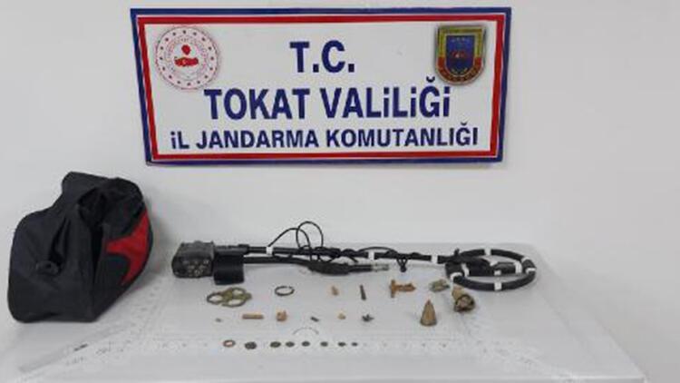 Tokat'ta 21 parça tarihi eser bulundu