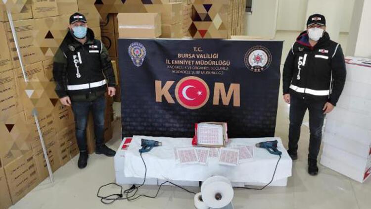 Bursa'da 5,5 milyon boş makaron ele geçirildi