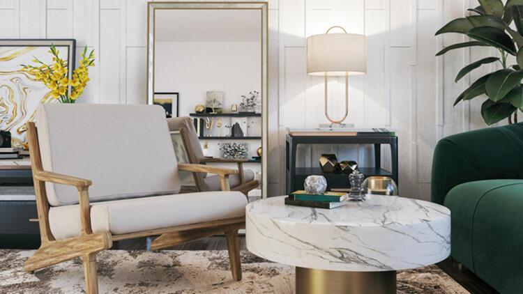 Ev dekorasyonunda yeni trend: Altın detaylar