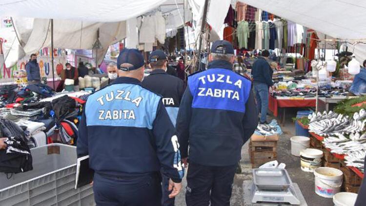 Tuzla'da pazarcı esnafına ceza yağdı