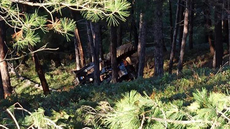 Yamaçtan yuvarlanan iş makinesinin operatörü, ağır yaralandı