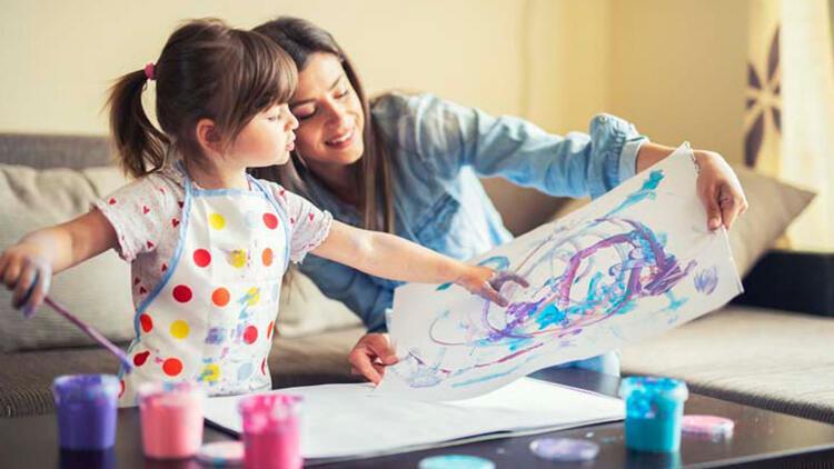 Eve kapanmak çocuğunuzun sanatsal yaratıcılığının gelişmesine engel olmasın