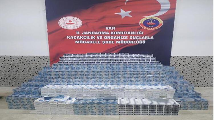Van'da 24 bin 70 paket kaçak sigara ele geçirildi: 8 gözaltı