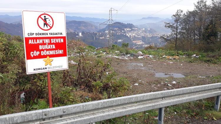 Çöp atanları durduramayınca bu tabelayı astılar!