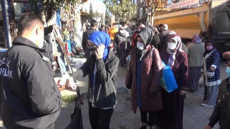 Karabük'te pazara gruplar halinde alındılar