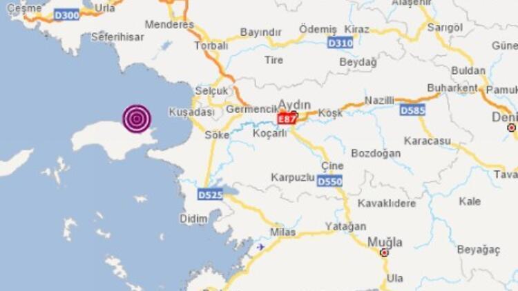 Son dakika deprem: Aydın açıklarında korkutan deprem!