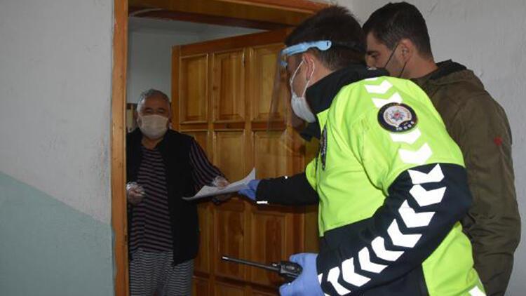 Covid-19 tedavisi görürken, aracının kaybolan plakası evinde yenilendi