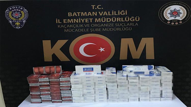 Batman'da bin 90 paket kaçak sigara ele geçirildi