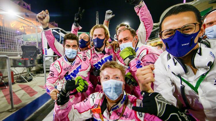 Perez, Sakhir Grand Prix'sinde F1 kariyerinin ilk birinciliğini kazandı! Mercedes'ten büyük hata...