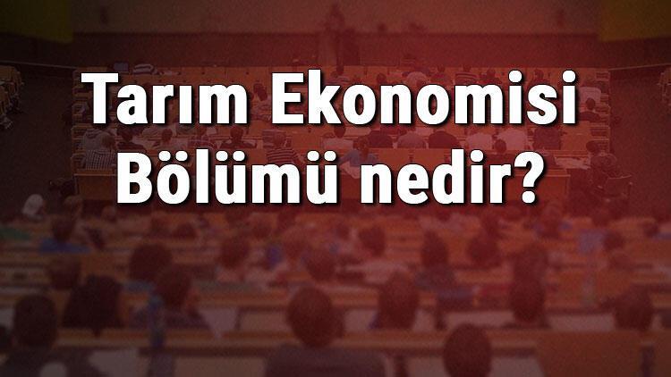 Tarım Ekonomisi Bölümü nedir ve mezunu ne iş yapar? Bölümü olan üniversiteler, dersleri ve iş imkanları