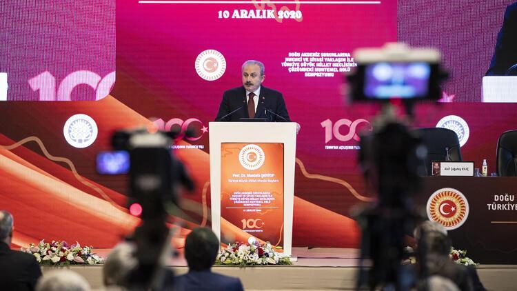 TBMM Başkanı Şentop, Doğu Akdeniz Sorunlarına Hukuki ve Siyasi Yaklaşım Sempozyumu'nda konuştu