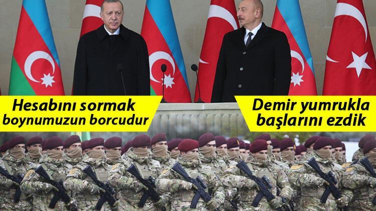 Son dakika... Azerbaycan'daki tarihi günde Erdoğan'dan flaş mesajlar...