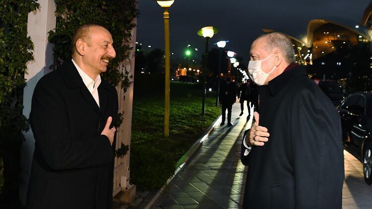 Cumhurbaşkanı Erdoğan, Azerbaycandan ayrıldı