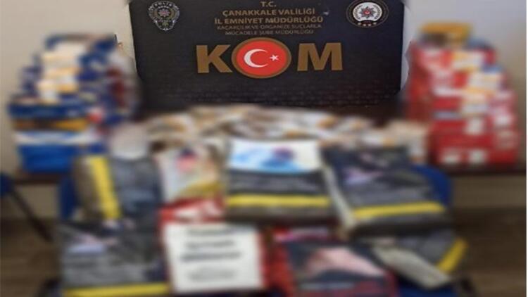 Ayvacık'ta kaçak sigara operasyonuna 1 gözaltı