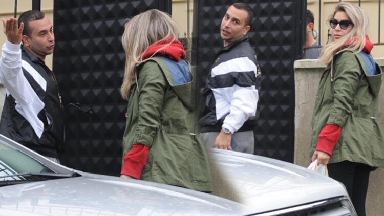 Öykü Çelik ve sevgilisi İsmail Berhan, Sarıyer'de