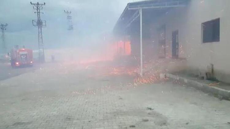 Hatay'da, zeytinyağı fabrikasında yangın