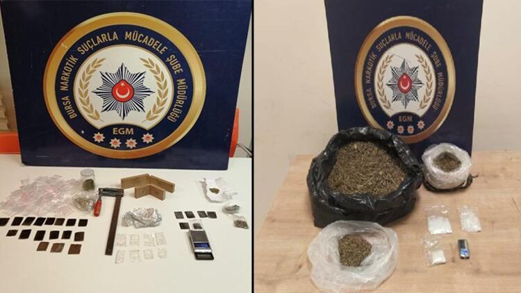 Bursa'da uyuşturucu madde ticareti yapan 2 kişi tutuklandı